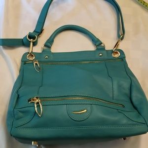 Tusk Macie Leather Crossbody Jade NWOT Gorgeous